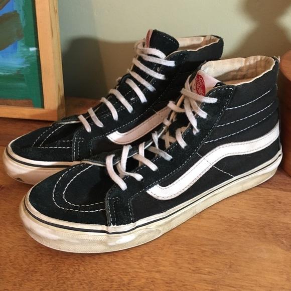 b9eafd8c40 Vans Sk8 high b w old school sneakers M 5  W 6.5. M 5b66dfc974359bdd4a70af61